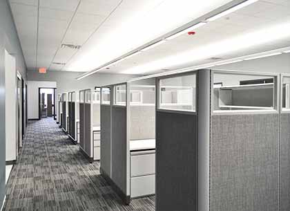Cubicles at Vuzix headquarters