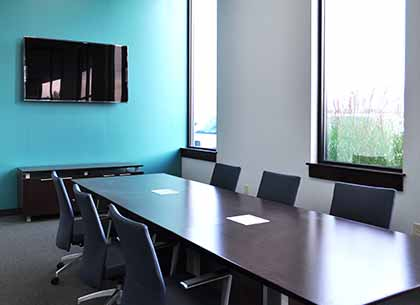 Conference room at Vuzix headquarters